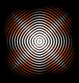 intersecting concentric circles moire noise vector image vector image