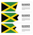 jamaica flag banners collection independence day vector image vector image