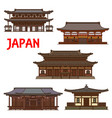 japanese temple shrines japan pagoda architecture vector image vector image