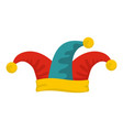 jester hat icon flat style vector image vector image