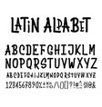 latin alphabet for design posters prints vector image vector image