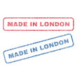 made in london textile stamps vector image vector image