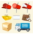 Mail delivery set of elements vector image vector image