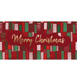 merry christmas gold foil hand drawn banner vector image
