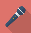 Microphone icon Modern Flat style with a long vector image vector image