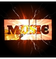 Music background with guitar and spark vector image vector image