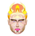 polygonal portrait of a man king vector image vector image