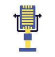 retro vintage microphone on white background vector image