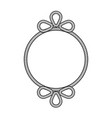 rope decor circle vector image vector image
