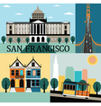 San francisco California vector image