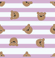 seamless pattern bears vector image vector image