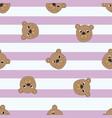 seamless pattern bears vector image