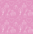 seamless pink background vector image vector image