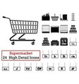 set of 24 supermarket icons vector image vector image