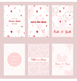 Set of beautiful floral templates for invitations vector image vector image