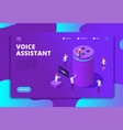 smart speaker concept voice assistant 4ir vector image vector image