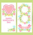 spring easter valentine 8 march banner set vector image vector image