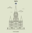 st peters church in tartu estonia vector image vector image