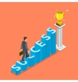 Stairs to success isometric concept vector image vector image