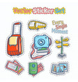 sticker patches set vector image
