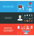 Surgery concept horizontal banners set vector image vector image