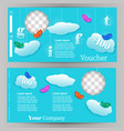 template design for a gift vouchr vector image vector image