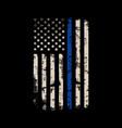 thin blue line american flag design