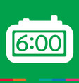 time clock icon sign design vector image
