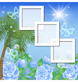 Tropical Floral Frame Background vector image vector image