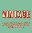 vintage 3d lettering vector image