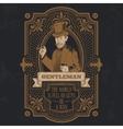 Vintage gentleman emblem signage vector image vector image