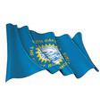 waving flag state south dakota vector image vector image
