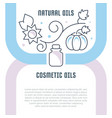 website banner and landing page natural oils vector image vector image