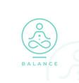 yoga studio logo icon vector image