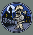 zombie gunner mascot logo design vector image