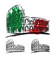 Coliseum on white background vector image