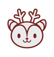 cute deer face image vector image