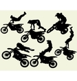 moto freestyle set vector image