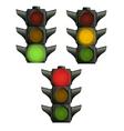 Set of traffic lights vector image