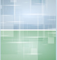 bright green and blue tech geometric backgrounds vector image