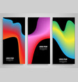 abstract gradient banner designs vector image vector image
