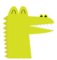 alligator crocodile face head icon kawaii animal vector image