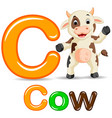 animals alphabet c is for cow vector image vector image