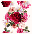 beautiful floral seamless pattern with roses vector image