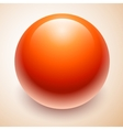 big red ball abstract vector image vector image