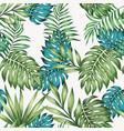 blue and green leaves seamless vector image vector image