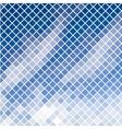 Blue diagonal mosaic in sky effect vector image