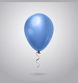 blue helium balloon with ribbon on grey background vector image vector image