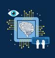 brain cpu circuit board keyboard optical vector image vector image