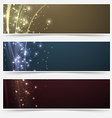 Bright magic shimmering headers collection vector image